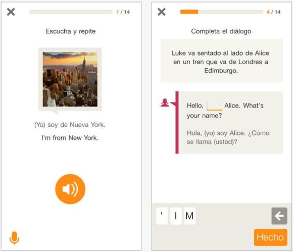 Curso interactivo muy completo con una tecnología de reconomiento de voz realmente buena