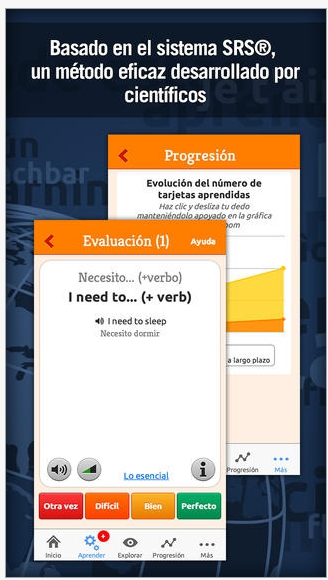 Interfaz de Mosalingua